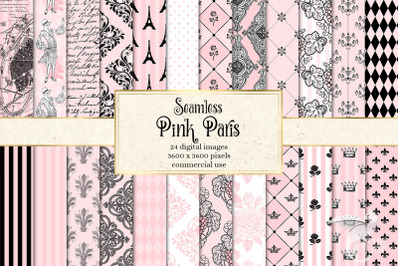 Pink Paris Digital Paper