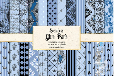 Blue Paris Digital Paper