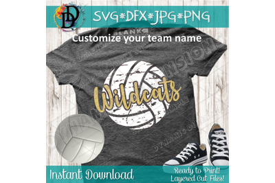 Wildcats svg, grunge volleyball svg, Volleyball clipart, wildcats voll