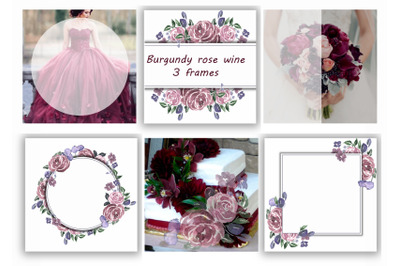 Burgundy rose wine