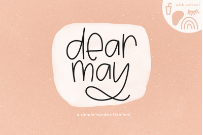 Dear May - A Fun Font with Doodles!