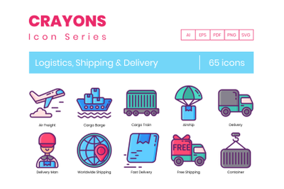 65 Logistics Icons