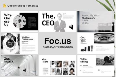 Focus - Photography Google Slides Template