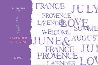 Watercolor Lavender Lettering