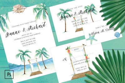 Beach Wedding Invitation Kit