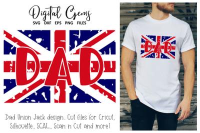 Union Jack, Dad, UK flag, Fathers day design