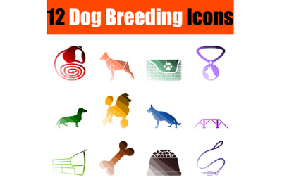 Dog Breeding Icon Set