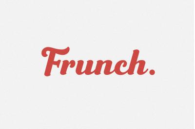 Frunch - Vintage Bold Script Font