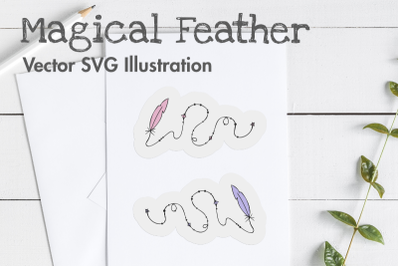 Magical Feather Vector SVG Illustration.