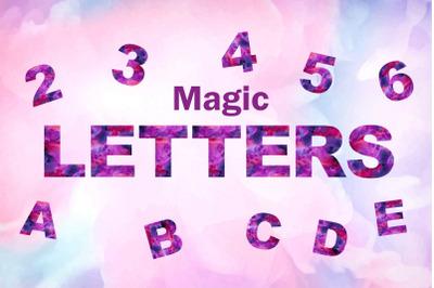 Magic Letters. Watercolor alphabet