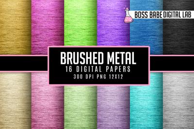 Brushed Metal Digital Papers