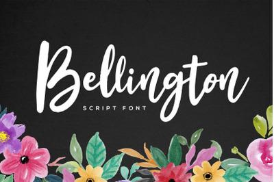 Bellington Script Font + Bonus