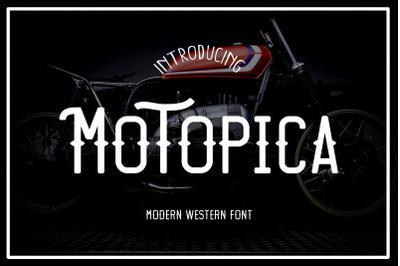 Motopica -  Modern Vintage Font