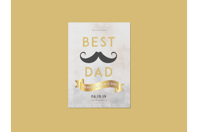 Best Dad Father's Day Flyer Template