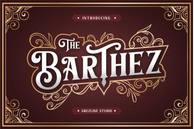 Barthez - Victorian Serif Font ( + Bonus )