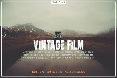 Professional Vintage Film Lightroom Preset