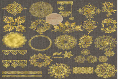 Golden Doily Clipart