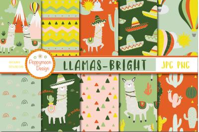 Llamas bright paper