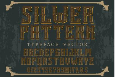 vintage alphabet Typeface handcrafted vector label design  shine
