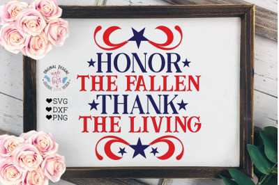 Honor the Fallen - Thank the Living Patriotic Cut File