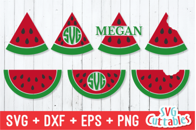 Watermelon | Monogram Frame | SVG Cut File
