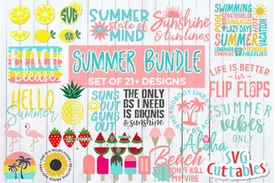 Summer Bundle | Shirt Designs | SVG Cut File