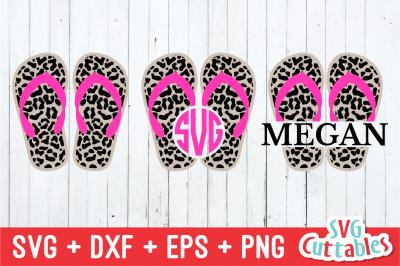 Leopard Print Flip Flops | Summer | SVG Cut File