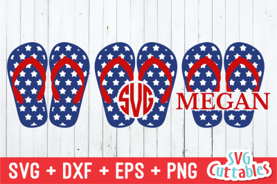 Patriotic Flip Flops | Fourth of July | SVG Cut File