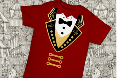 Circus Ringmaster Coat and Tuxedo | SVG | PNG | DXF