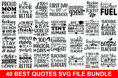 40 Best Quotes Svg Design Bundle