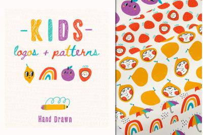 Kids logos + patterns