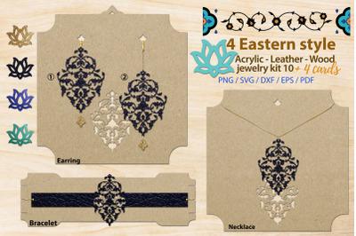 Eastern style acrylic leather wood jewelry kit 10
