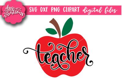 Teacher Apple SVG Cut File