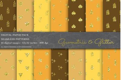 Glitter Geometric Digital Papers