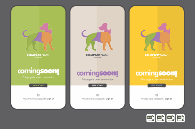 Dog Logo Template Design.