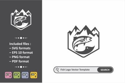 Fish Logo Template.