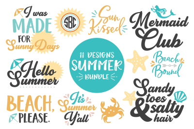 Summer SVG DXF PNG Bundle