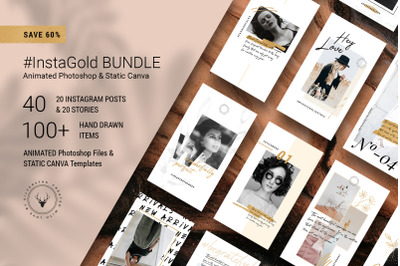 #InstaGold Bundle - Animated Posts & Stories + CANVA