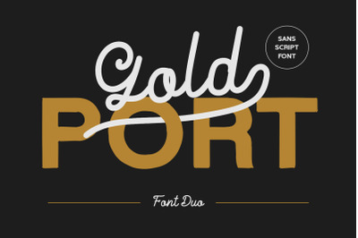 Gold Port - Font Duo with Sans