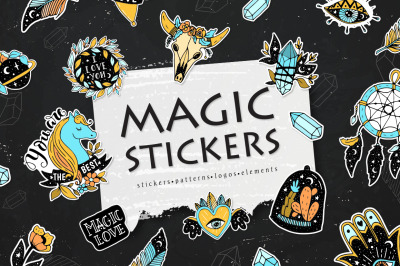 Magic stickers collection