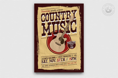 Country Music Flyer Template V3