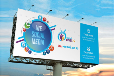 Social Media Billboard Template