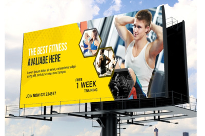Gym and Fitness Billboard
