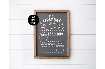 First Day Of School Sign SVG DXF PNG