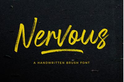 Nervous Brush Font