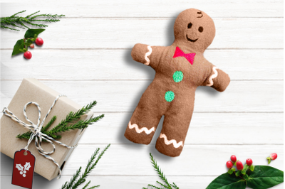 Gingerbread Boy Plush in the Hoop ITH | Embroidery