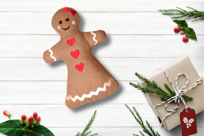 Gingerbread Girl Plush in the Hoop ITH | Embroidery