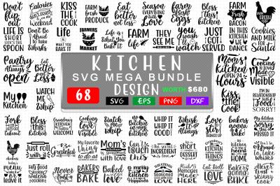Kitchen Svg Mega Bundle 68 Design, T shirt Design