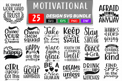 Motivational T shirt Design Svg Bundle Vol- 1