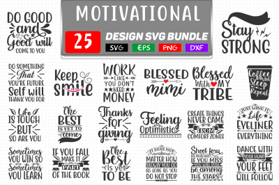Motivational Svg Bundle Vol- 2, 25 T shirt Design